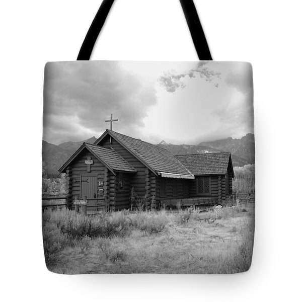 Church In Black And White Tote Bag by Kathleen Struckle