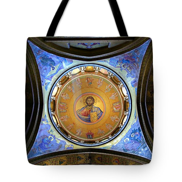 Church Of The Holy Sepulchre Catholicon Tote Bag by Stephen Stookey