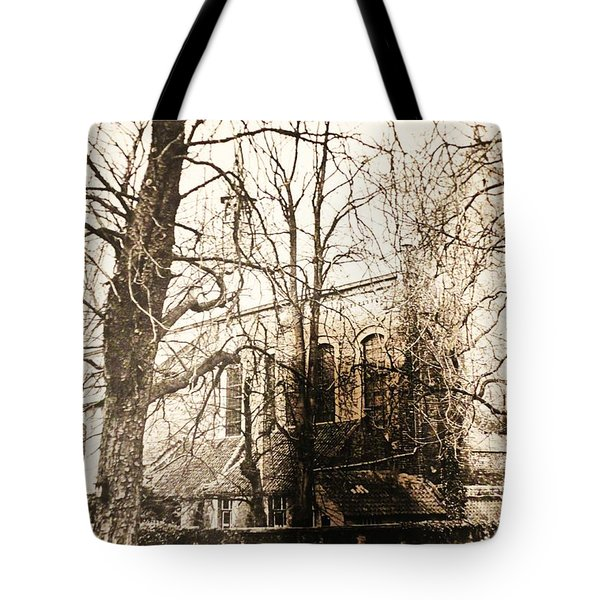 Church On Canal In Brugge Belgium Tote Bag by PainterArtist FINs husband Maestro