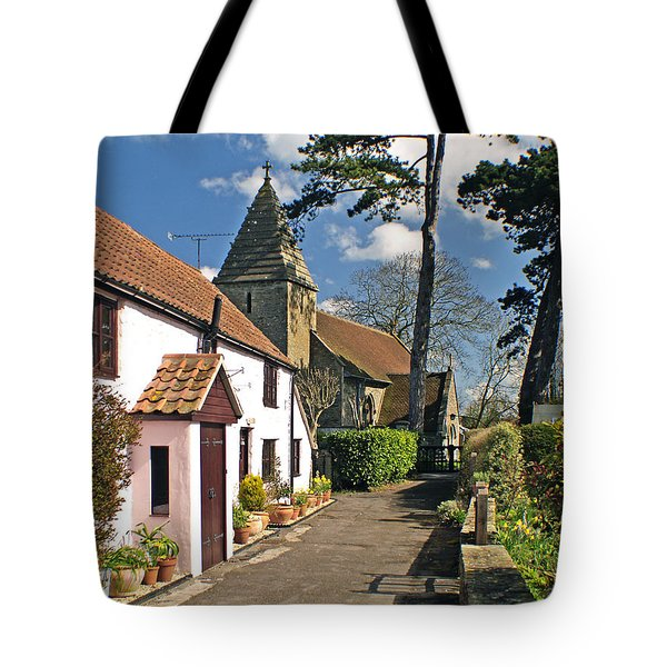 Church Path - Kenn - Somerset Tote Bag by Robert Down