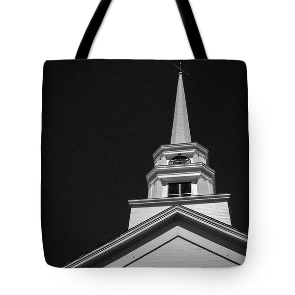 Church Steeple Stowe Vermont Tote Bag by Edward Fielding
