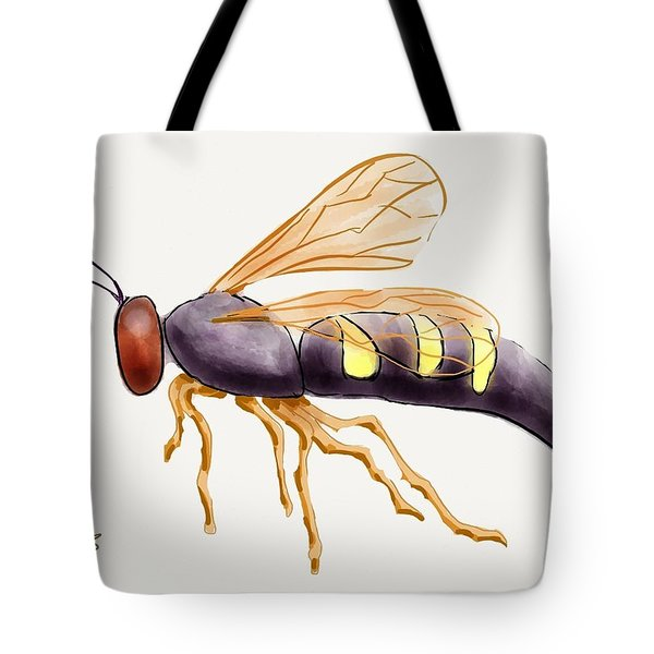 Cicada Killer Wasp Tote Bag by Stacy C Bottoms