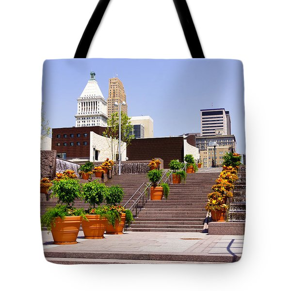 Cincinnati Downtown Central Business District Tote Bag by Paul Velgos