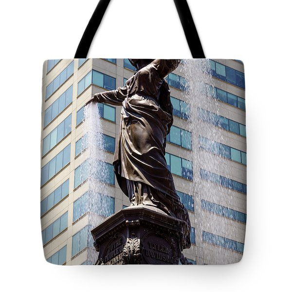 Cincinnati Fountain Genius of Water by Tyler Davidson  Tote Bag by Paul Velgos