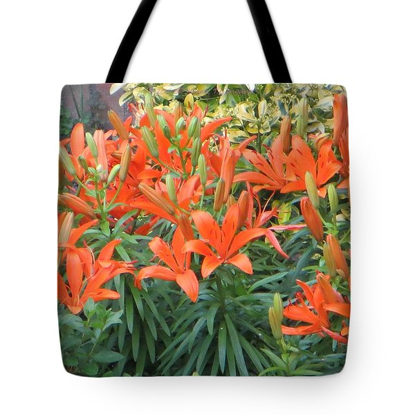 Cincture Of Lilies Tote Bag by Sonali Gangane