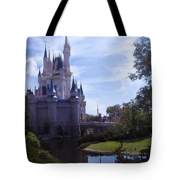 Cinderella Castle Tote Bag by Roger Wedegis