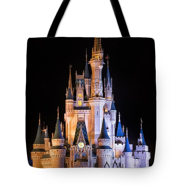 Cinderella's Castle In Magic Kingdom Tote Bag by Adam Romanowicz