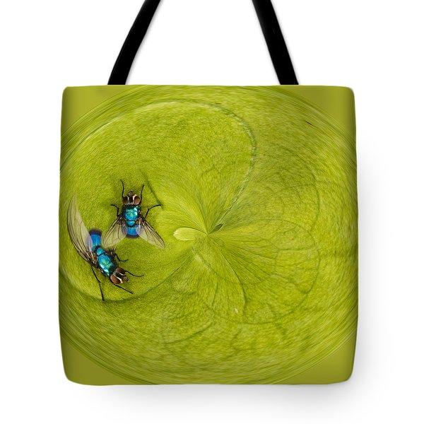 Circle of flies Tote Bag by Jean Noren