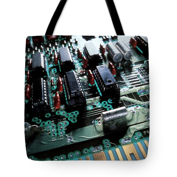 Circuit Board Tote Bag by Jerry McElroy