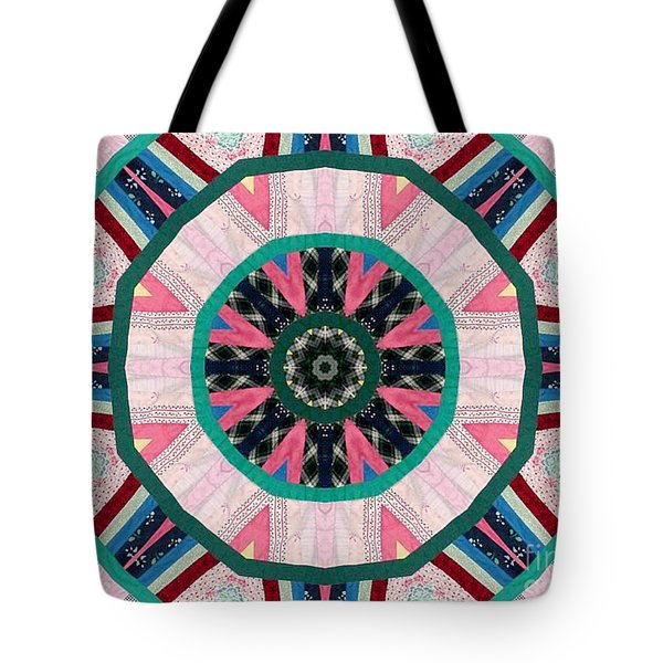 Circular Patchwork Art Tote Bag by Barbara Griffin