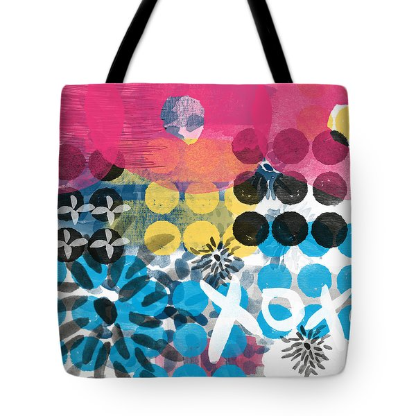 Circus - Contemporary Abstract Art Tote Bag by Linda Woods