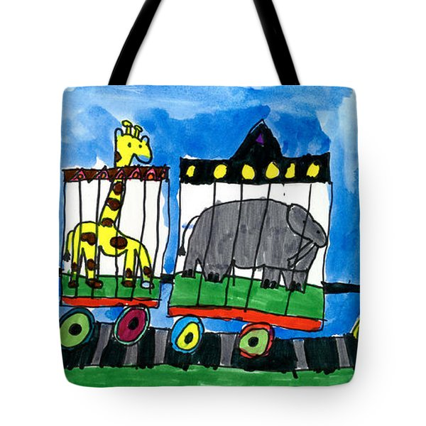 Circus Train Tote Bag by Max Kaderabek Age Eight