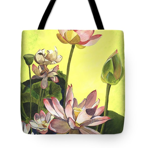 Citron Lotus 1 Tote Bag by Debbie DeWitt