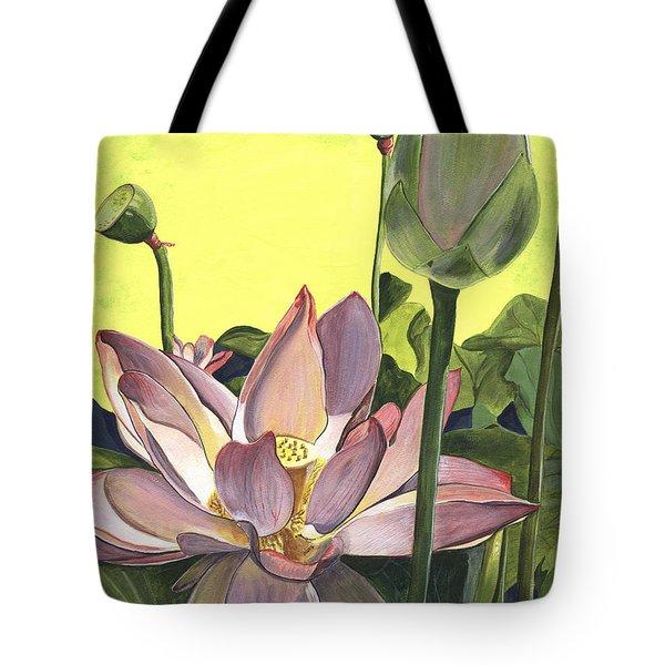 Citron Lotus 2 Tote Bag by Debbie DeWitt