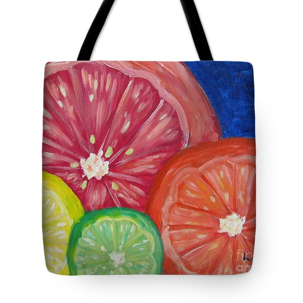 Citrus Slices Tote Bag by Laurie Morgan