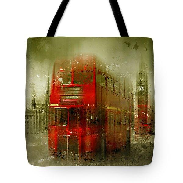 City-art London Red Buses Tote Bag by Melanie Viola