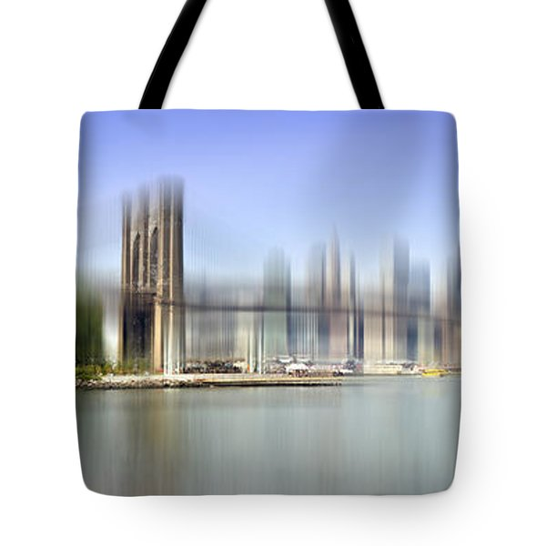 City-art Manhattan Skyline I Tote Bag by Melanie Viola