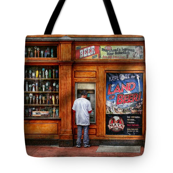 City - Baltimore Md - Explore The Land Of Beer  Tote Bag by Mike Savad