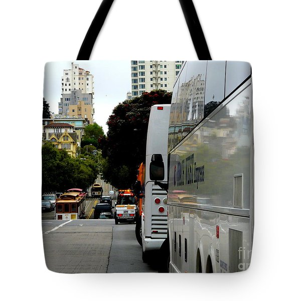 City Life In Frisco Tote Bag by Avis  Noelle