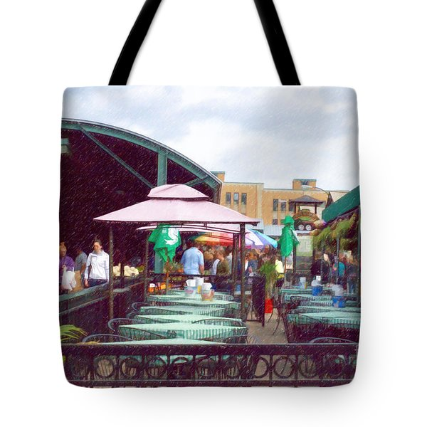 City Market Tote Bag by Liane Wright