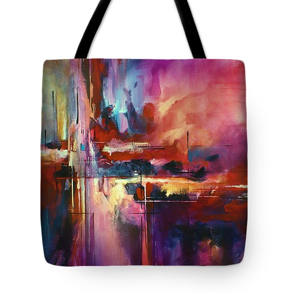 'CITY of FIRE' Tote Bag by Michael Lang