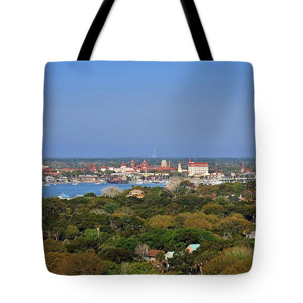 City of St Augustine Florida Tote Bag by Christine Till