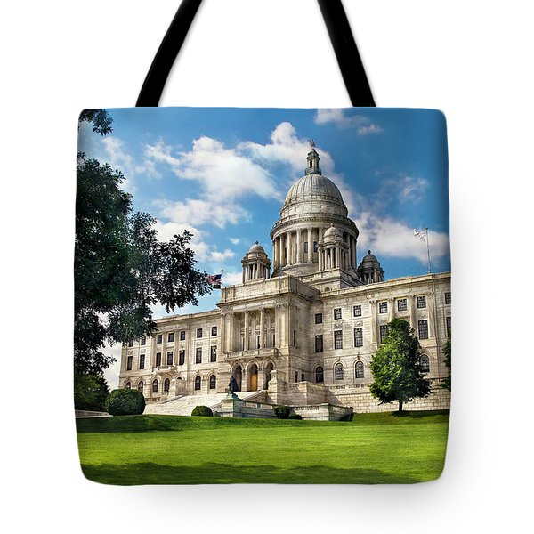City - Providence Ri - The Capitol Tote Bag by Mike Savad