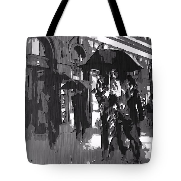 City Rain Tote Bag by Dan Sproul