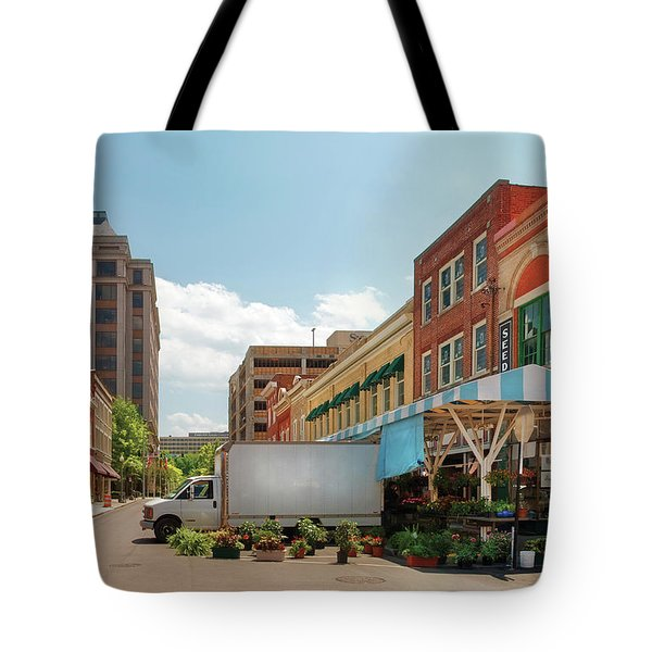 City - Roanoke VA - The City Market Tote Bag by Mike Savad