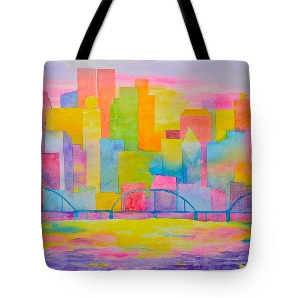 City To Dye For Tote Bag by Rhonda Leonard