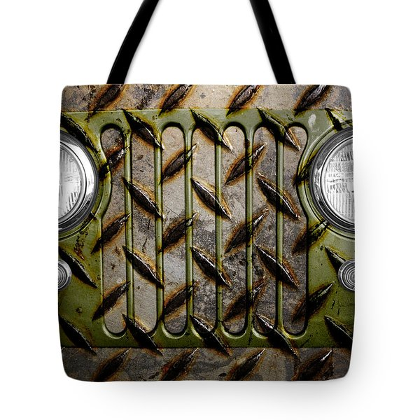 Civilian Jeep- Olive Green Tote Bag by Luke Moore