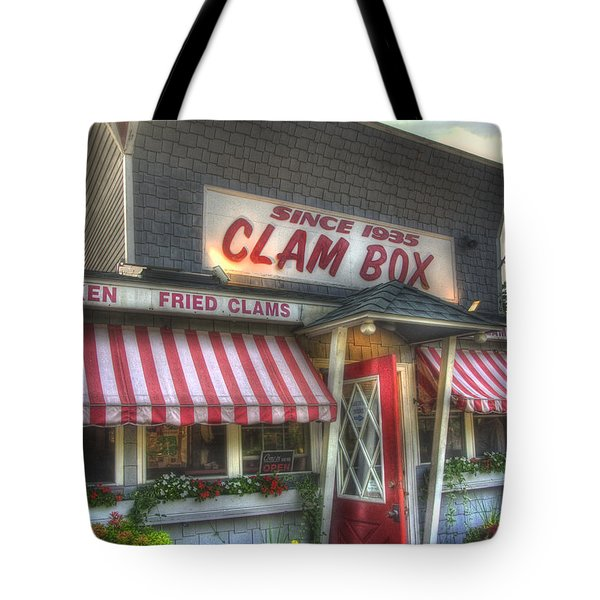 Clam Box Restaurant - Ipswich MA Tote Bag by Joann Vitali