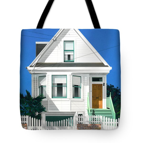 Clapperboard House Tote Bag by David Holmes