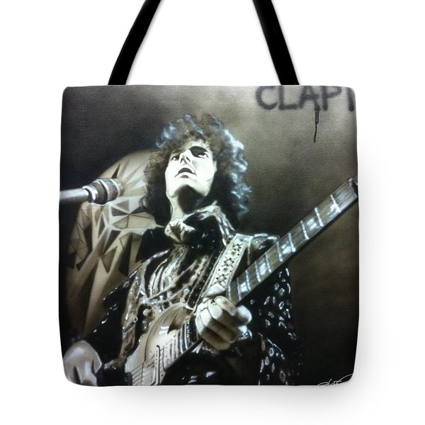 Eric Clapton - ' Clapton ' Tote Bag by Christian Chapman Art
