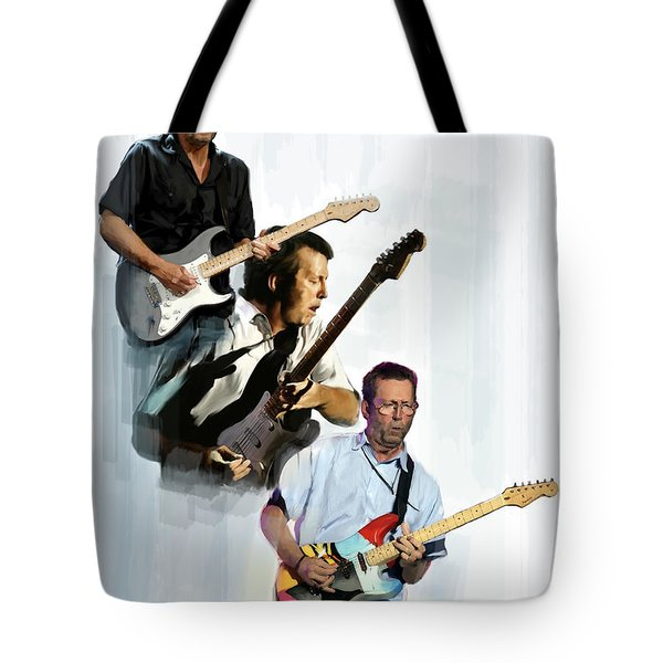 Clapton Eric Clapton Tote Bag by Iconic Images Art Gallery David Pucciarelli