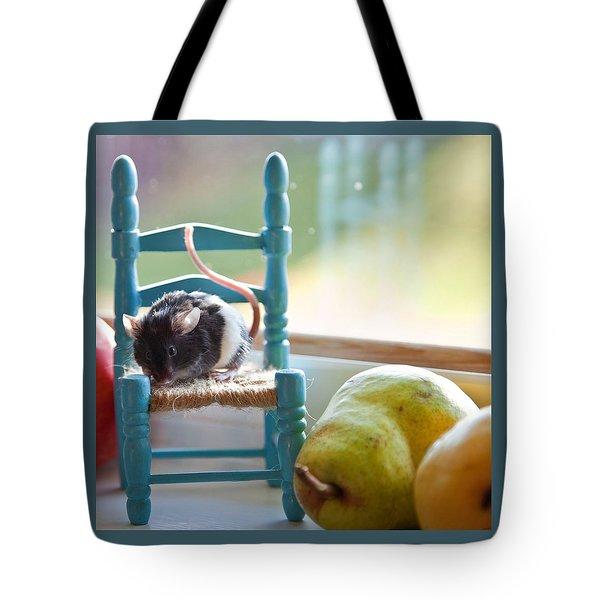 Clara's Favorite Chair Tote Bag by Theresa Tahara