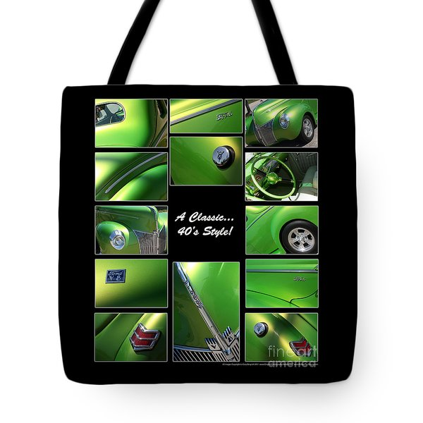 Classic 40s Style - Poster Tote Bag by Gary Gingrich Galleries