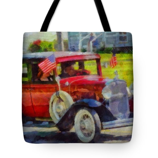 Classic Cars American Tradition Tote Bag by Dan Sproul