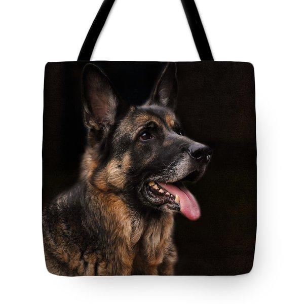 Classic German Shepherd Tote Bag by Jai Johnson