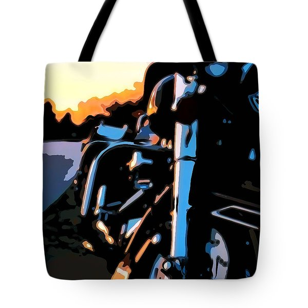 Classic Harley Tote Bag by Michael Pickett