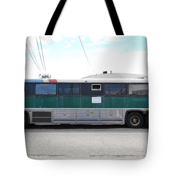 Classic Retro Greyhound Bus 5d25256 Tote Bag by Wingsdomain Art and Photography