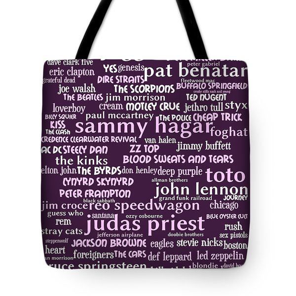 Classic Rock 20130625bwma Tote Bag by Wingsdomain Art and Photography