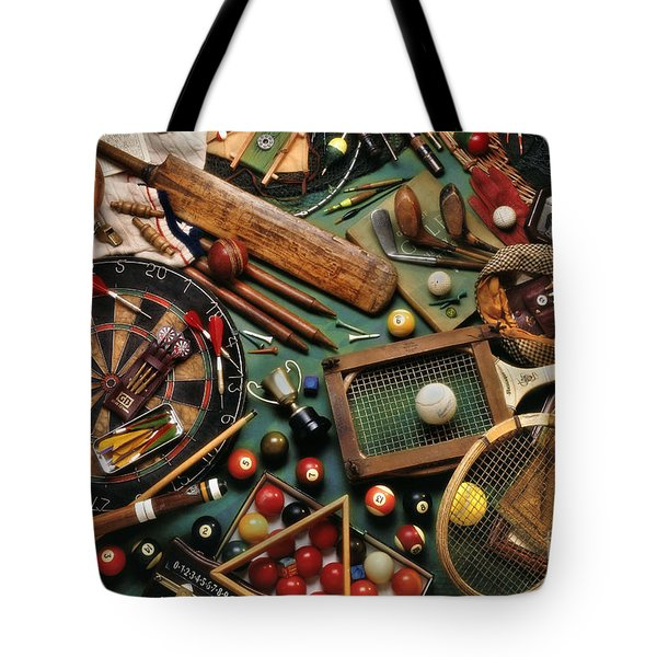Classic Sports Gear Tote Bag by Simon Kayne