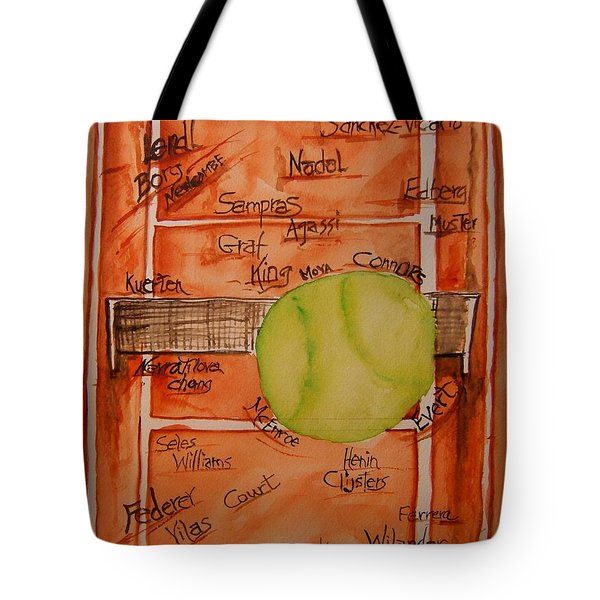 Clay Courters Tote Bag by Elaine Duras