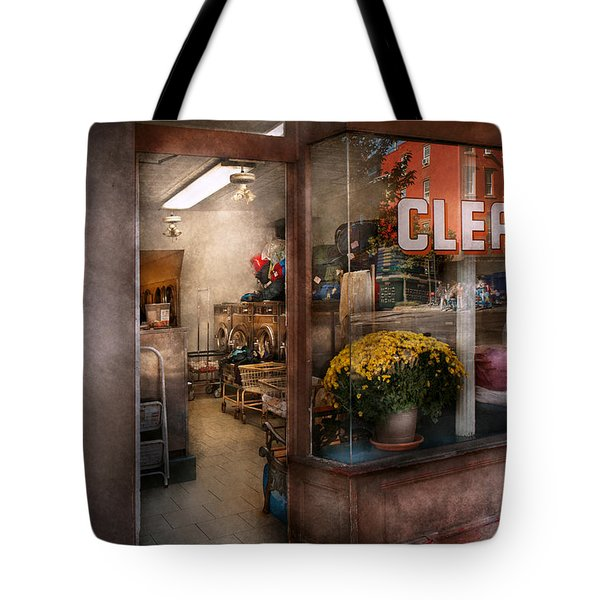 Cleaner - Ny - Chelsea - The Cleaners Tote Bag by Mike Savad