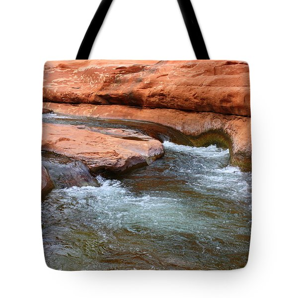 Clear Water at Slide Rock Tote Bag by Carol Groenen