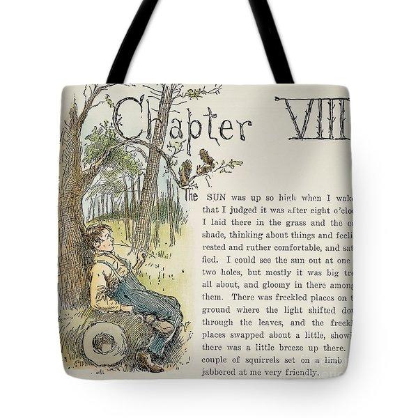 Clemens: Huck Finn Tote Bag by Granger