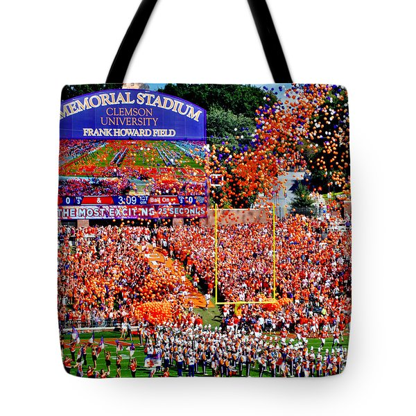 Clemson Tigers Memorial Stadium Tote Bag by Jeff McJunkin