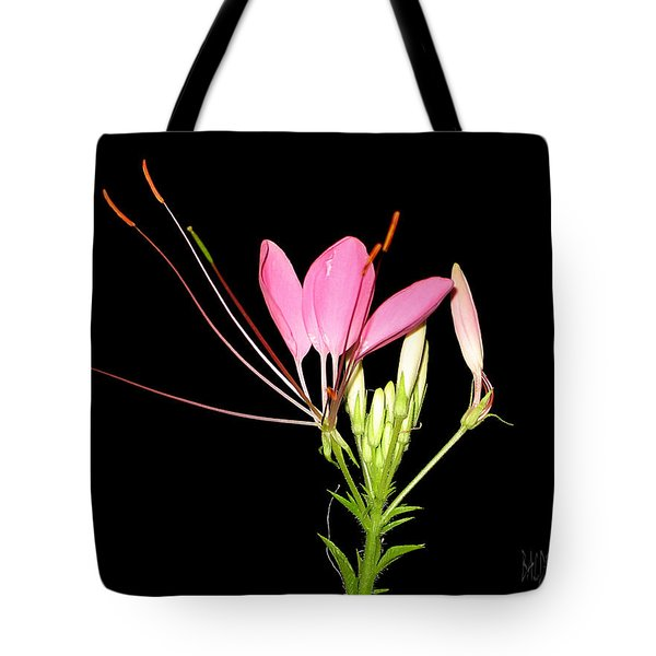 Cleome Tote Bag by J R Baldini Master Photographer