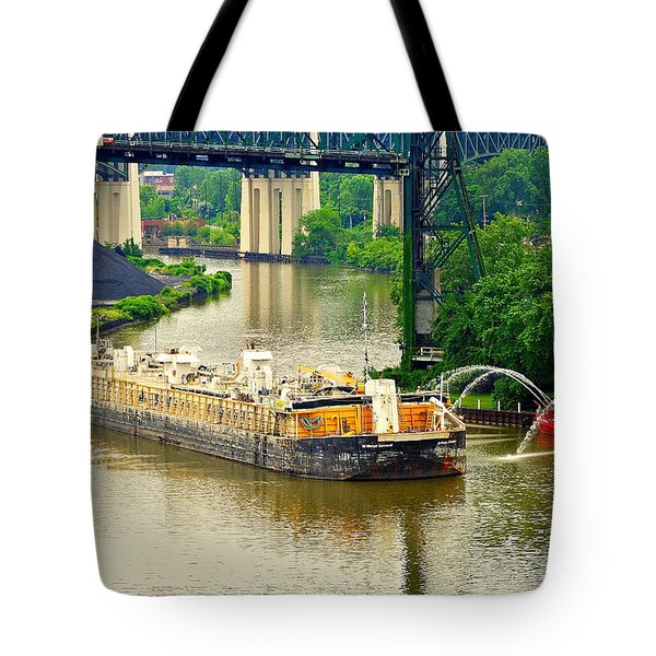 Cleveland Fire Department Tote Bag by Frozen in Time Fine Art Photography